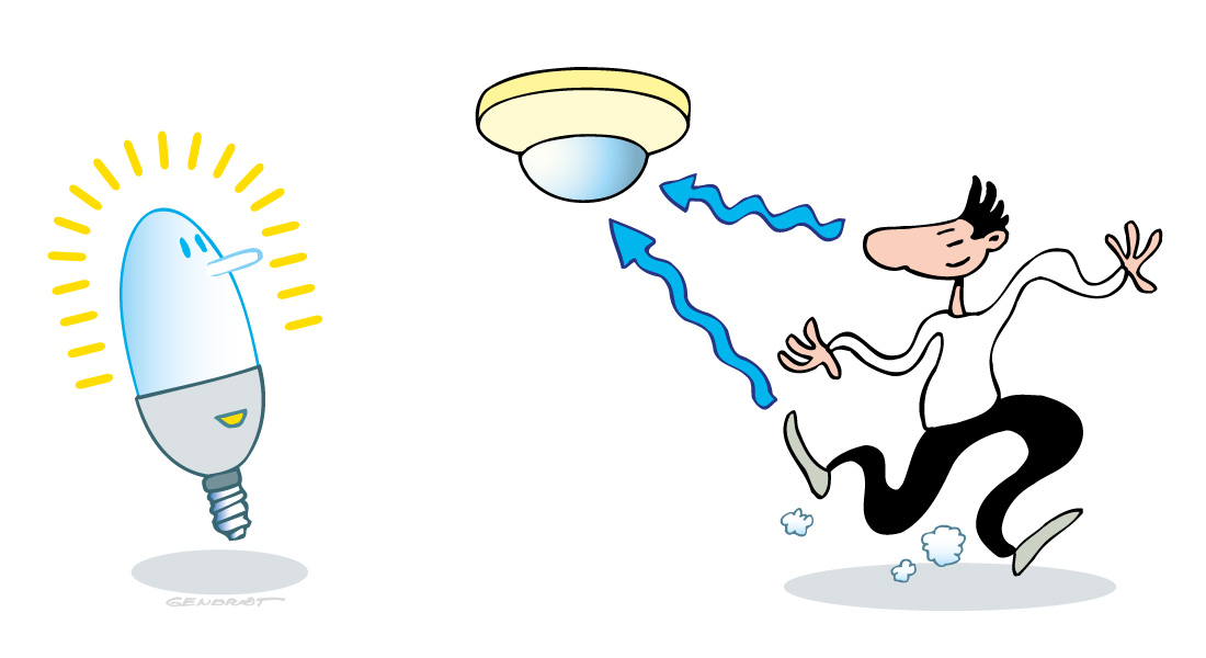 Eclairage basse énergie et détecteurs