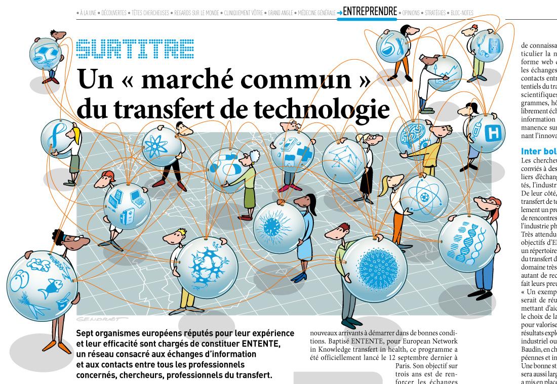 Le marché commun du transfert de technologie
