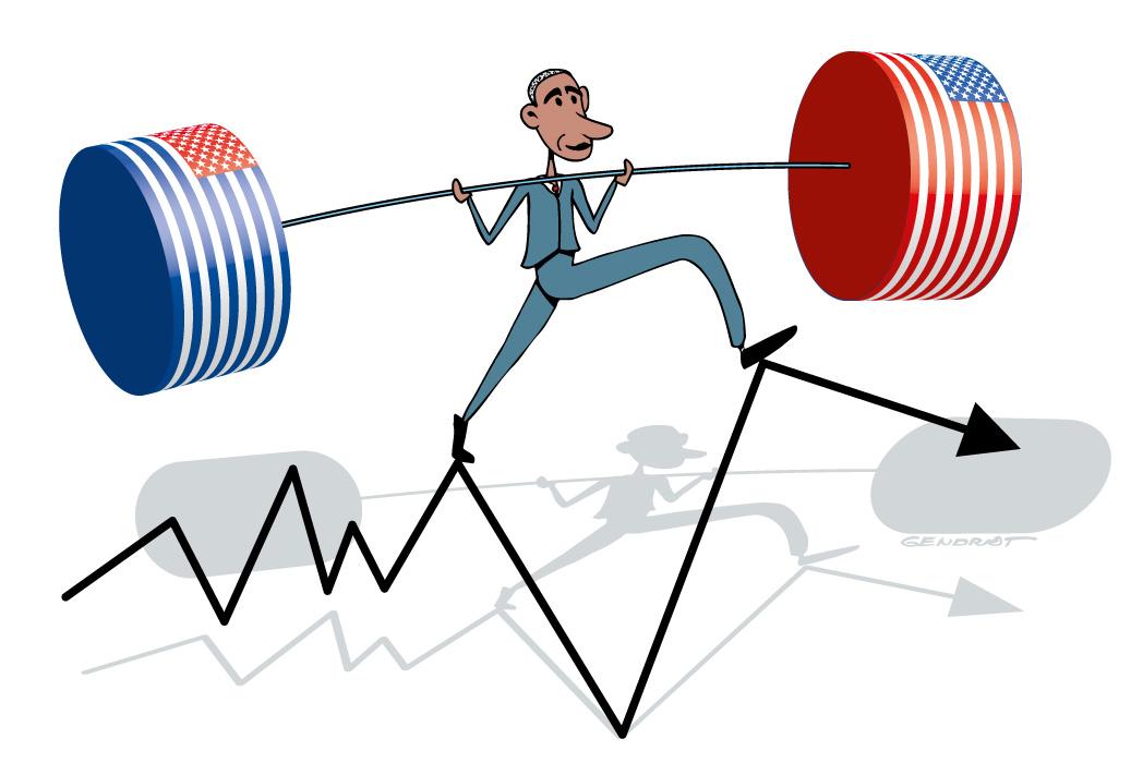 Obama entre démocrates et républicains