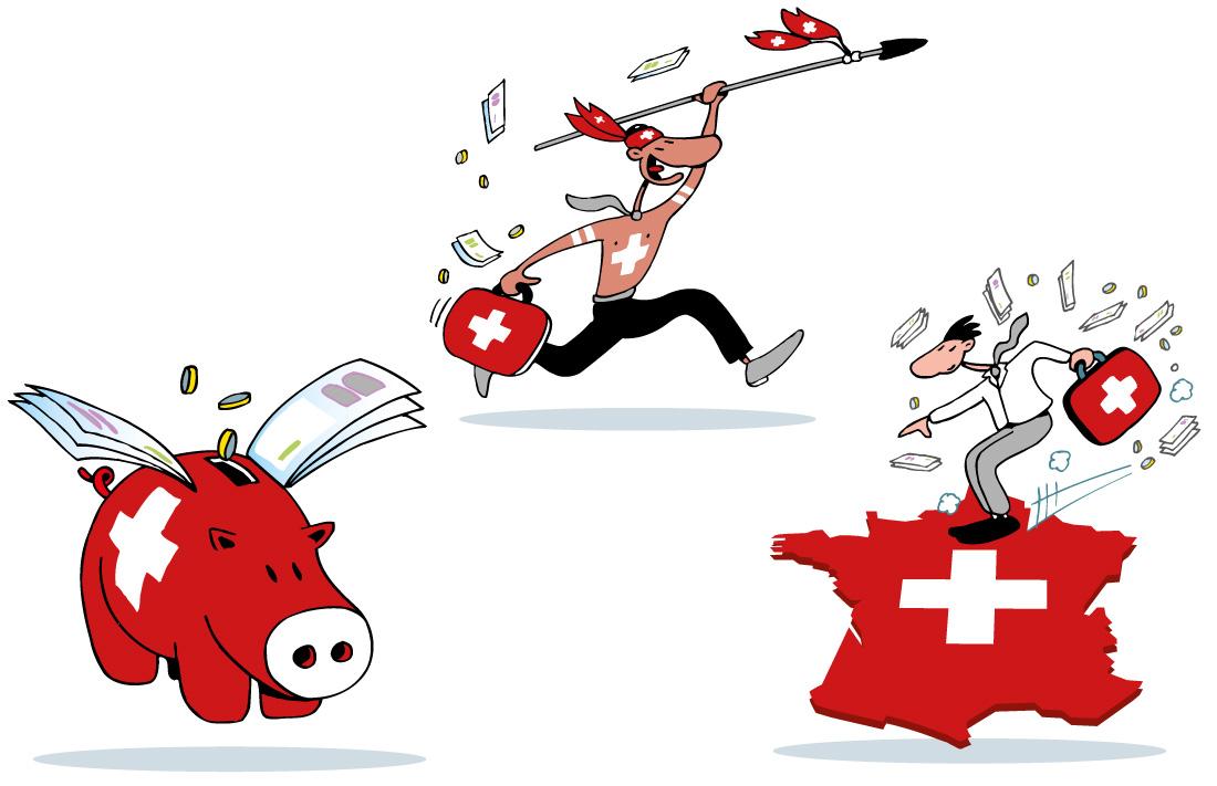 Les banquiers suisses attaquent le marché français