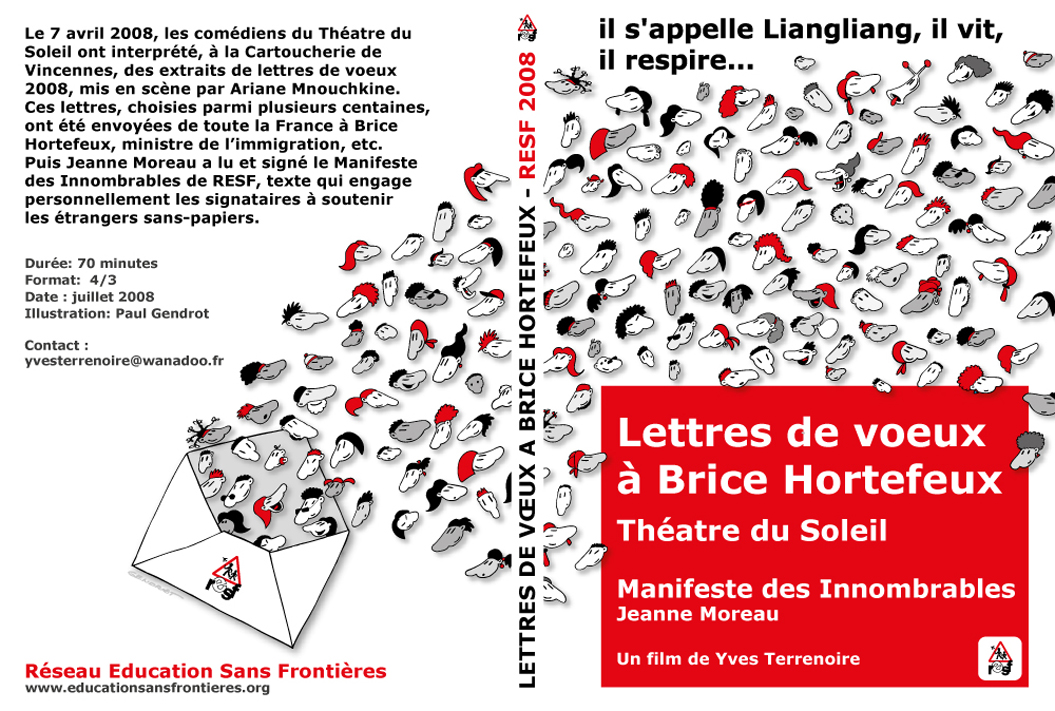 Jaquette dvd, spectacle cartoucherie de Vincennes