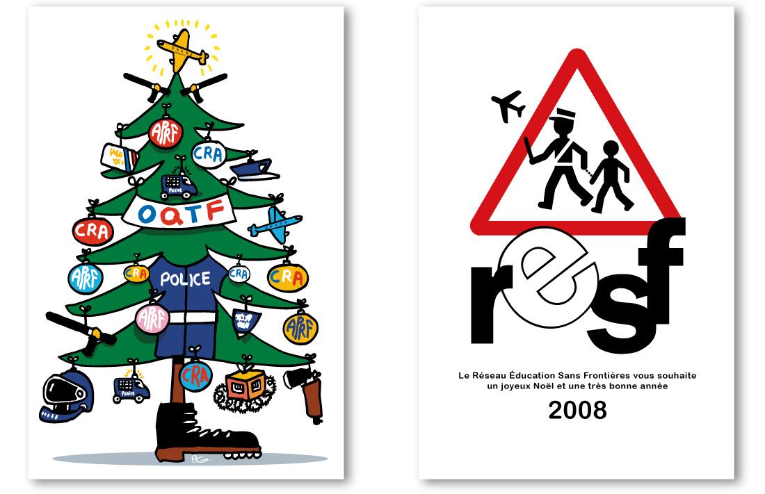 Carte postale de Noël pour les préfectures