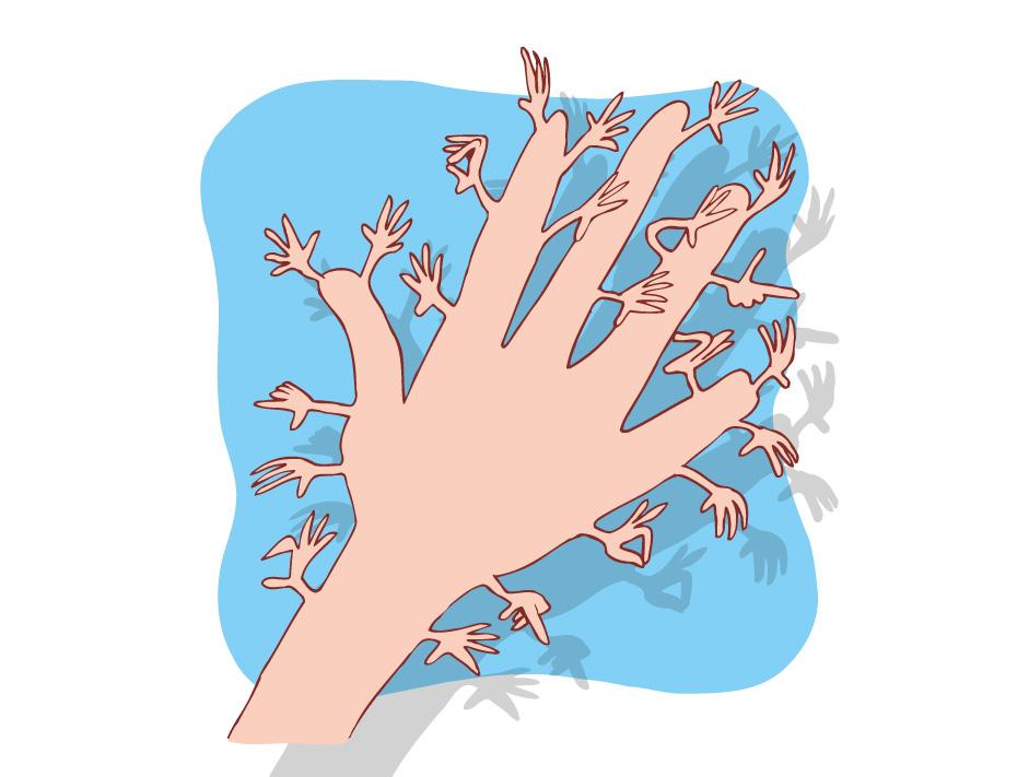 Le toucher - Les mains très sensibles