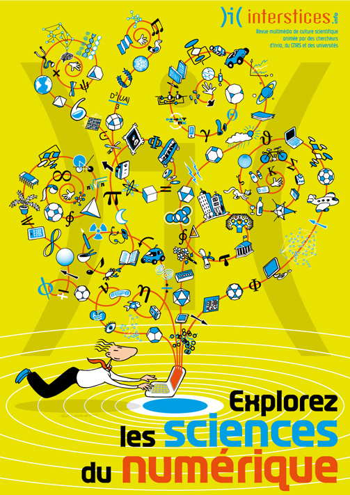 Interstices - Promotion du site - Affiche, carte, diffusion internet, réseaux sociaux