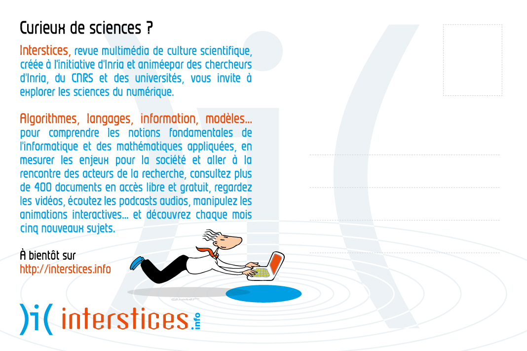 Interstices - Promotion du site - Verso carte