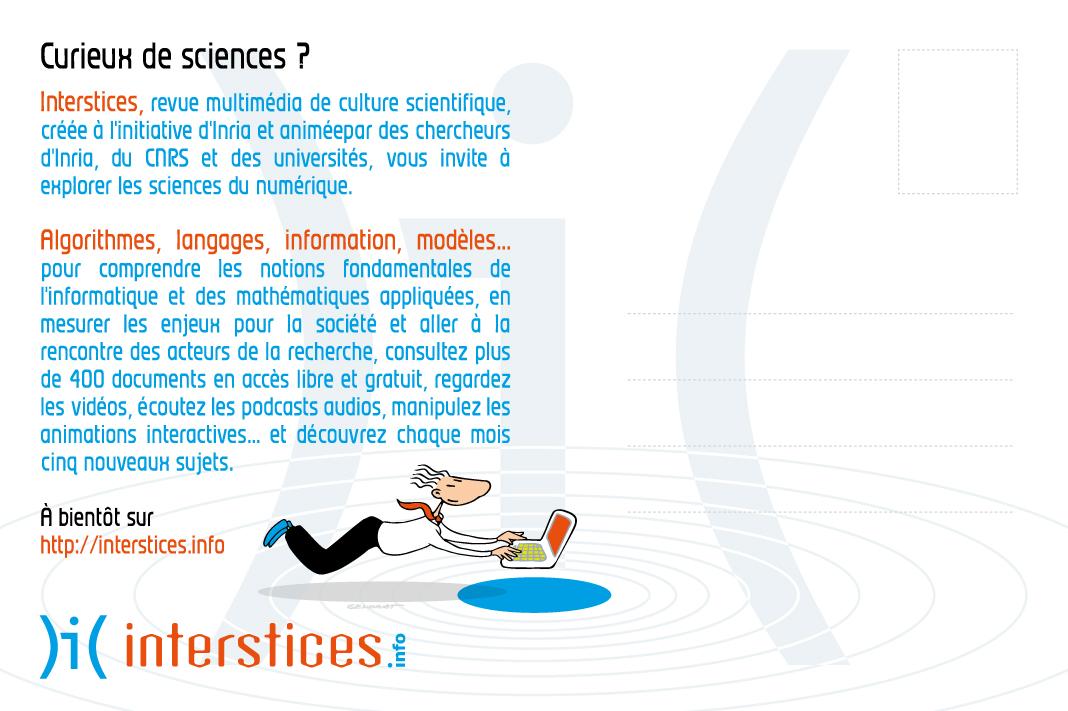Interstices - Promotion du site - Verso carte