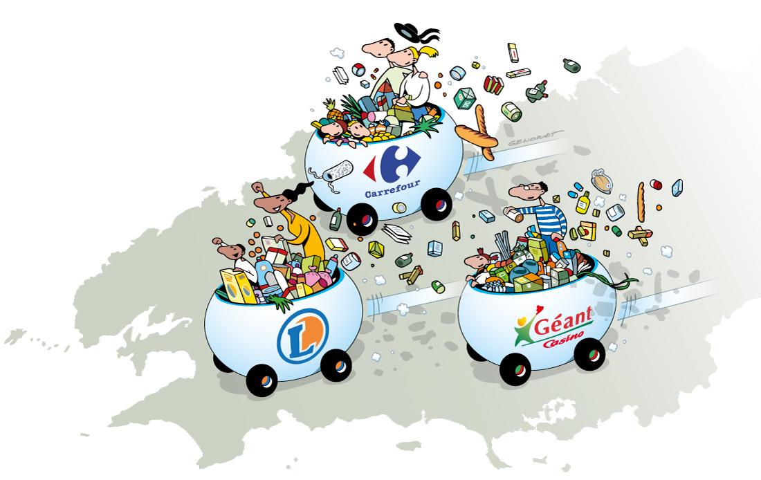 Grande distribution - Compétition en Bretagne
