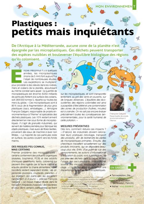 Microplastiques - Petits mais inquiétants (maquette)